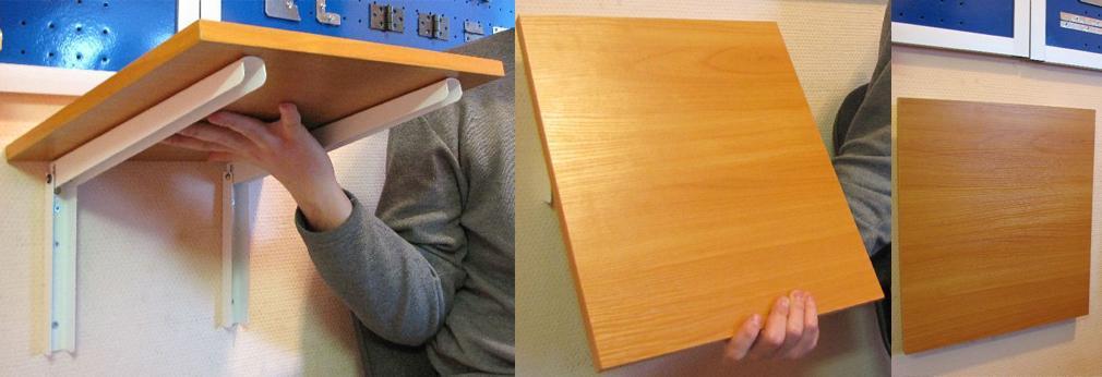 Пример  складноного кронштейна для мебели